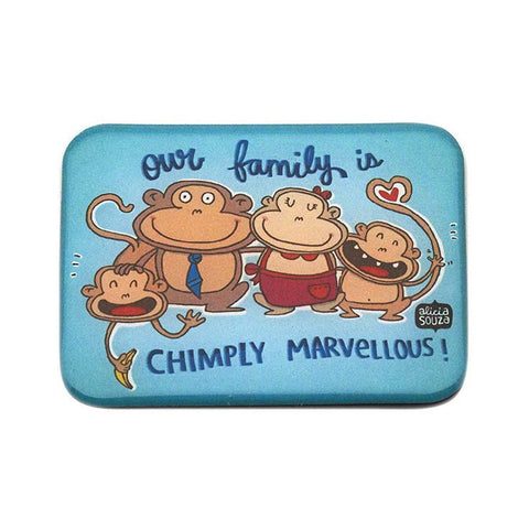 Magnet - Chimp Family Magnet
