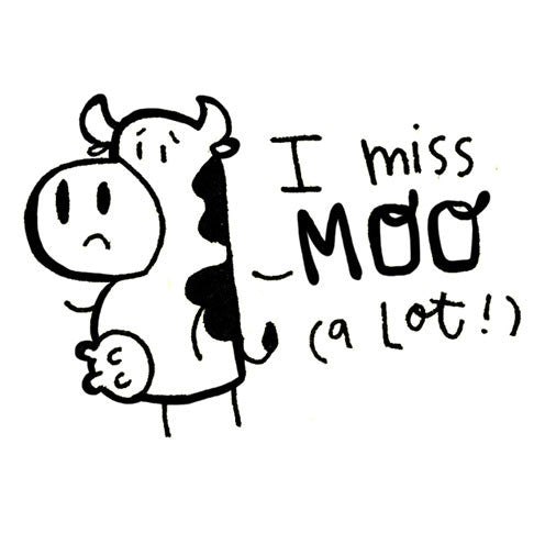 I miss Moo Stamp - Alicia Souza
