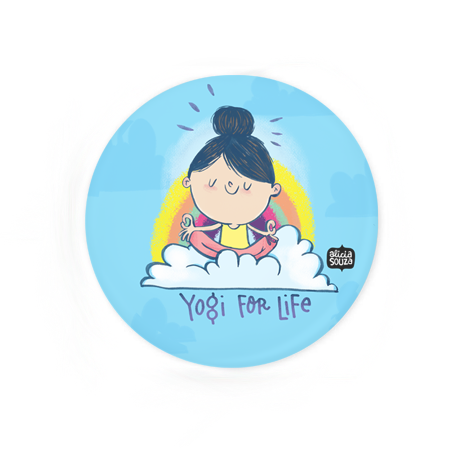 Yogi For Life Badge+Magnet