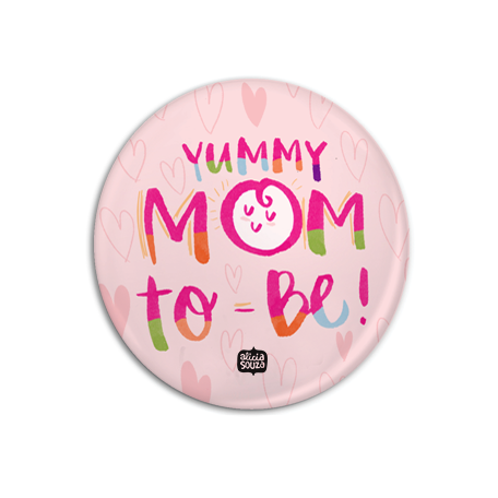 Mummy To Be Badge + Magnet