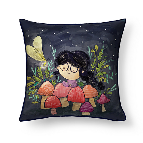 Mushroom Girl Cushion Cover