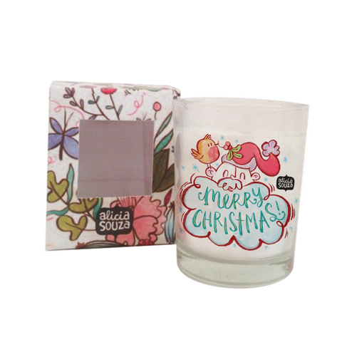 Christmas Birdie Shot Glass Candle