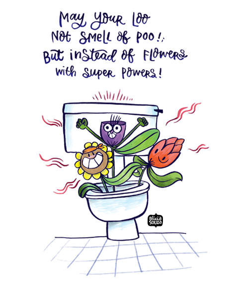Flower In The Loo Decal - Alicia Souza