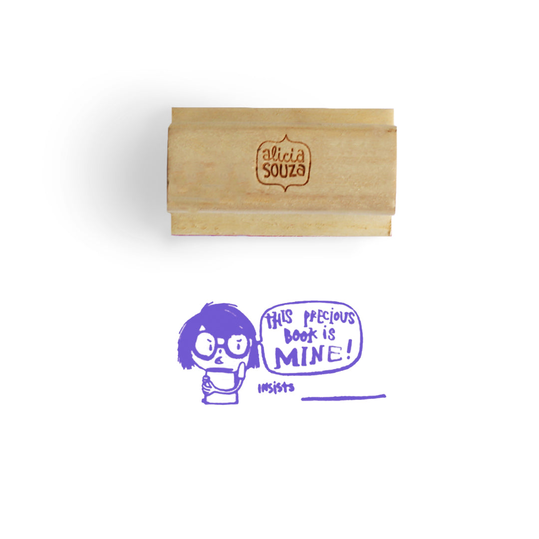 Custom Precious Book Stamp - GIRL
