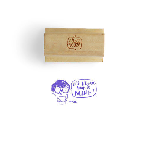 Custom Precious Book Stamp - BOY