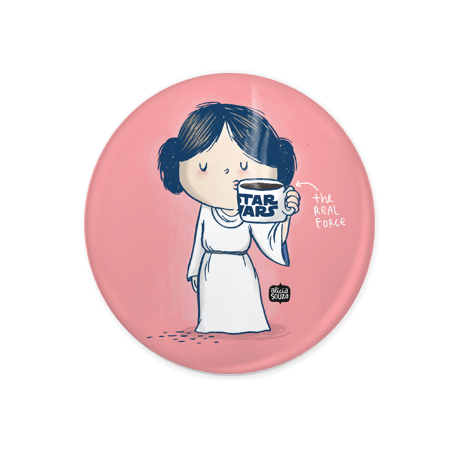 Princess Leia Badge+Magnet