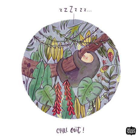 Chill Out Decal - Alicia Souza