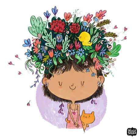 Flower On The Head Decal - Alicia Souza