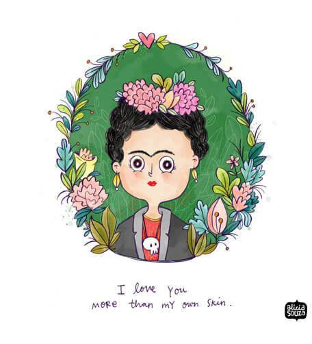 Prints - Frida Love Wall Art
