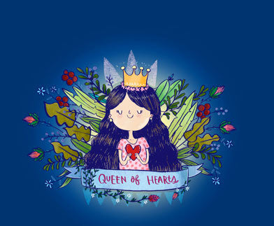 Queen Of Hearts Wall Art - Alicia Souza