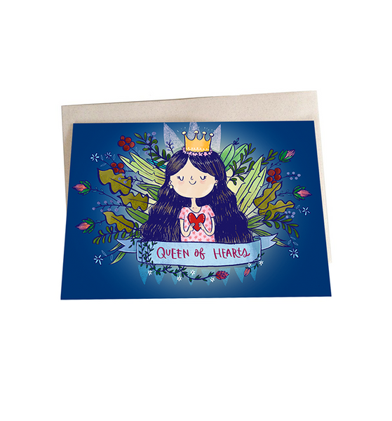 Queen of hearts Mini Greeting