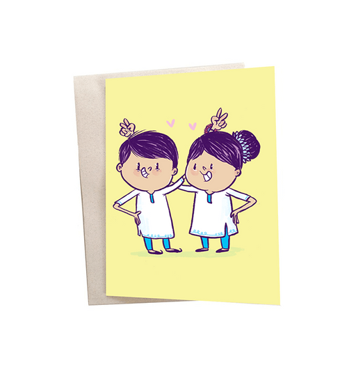 Raksha Bandhan Mini Greeting Card - Alicia Souza