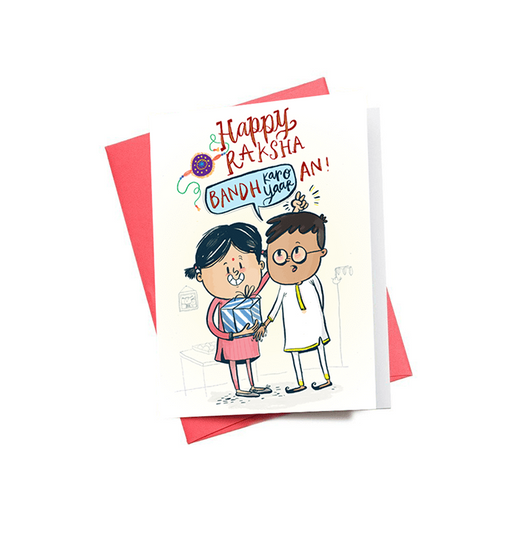 Happy Raksha Bandhan Mini Greeting Card - Alicia Souza