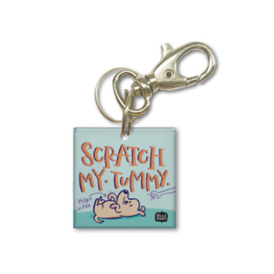 Scratch Tummy Dog Tag
