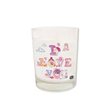 I Love You Shot Glass Candle