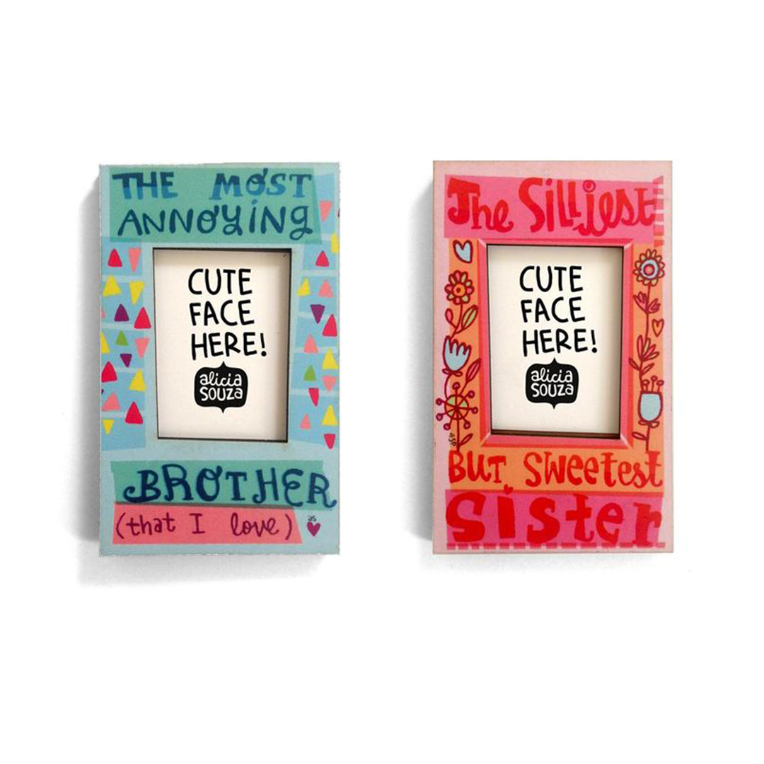 Brother And Sister Magnetic Frames - PACK OF 2