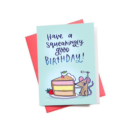 Squeaking Birthday Mini Greeting