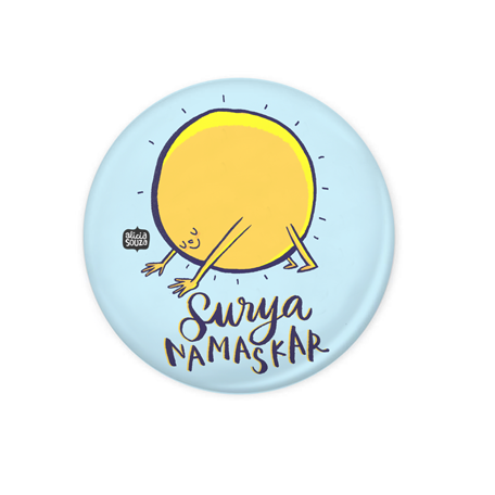 Namaskar Badge+Magnet - Alicia Souza