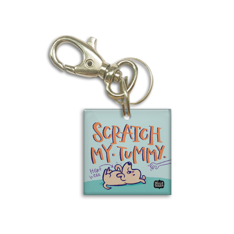 Scratch Tummy Dog Tag - Alicia Souza