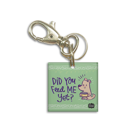 Feed me Dog Tag