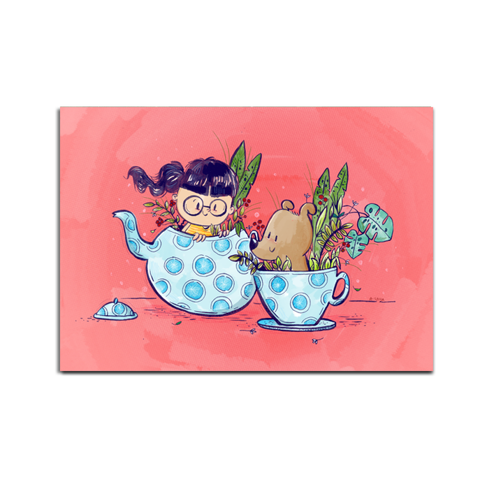 Teapot Friends Postcard - SET OF 5 - Alicia Souza