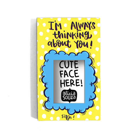Thinking About You Refrigerator magnetic frame SMALL