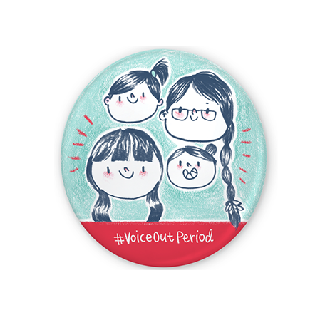 Voice Out Period Badge