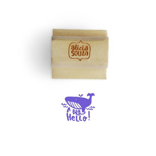 Whale Hello Stamp