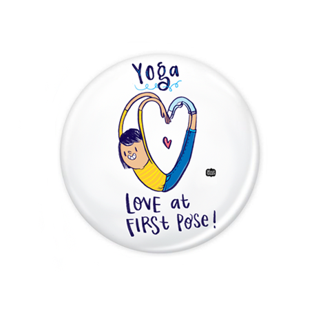 Yoga love Badge+Magnet