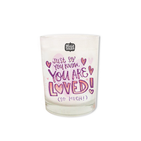 You Are Loved Shot Glass Candle
