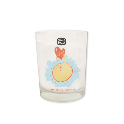 Sunny Heart Shot Glass Candle