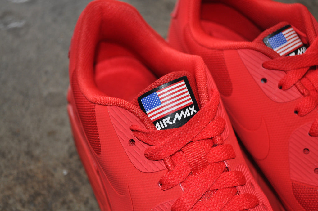 Nike Air Max 90 Hyperfuse 'Independence Day' - Sport Red/Sport Red