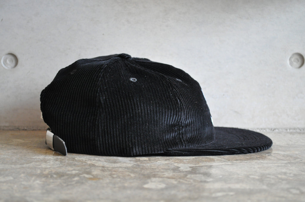 Supreme Corduroy S Logo 6-Panel Cap - Black