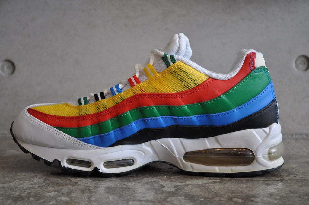 Nike Air Max 95 'Olympic' 2004 - Wht/Met Gold-Chle Rd-Photo Blu