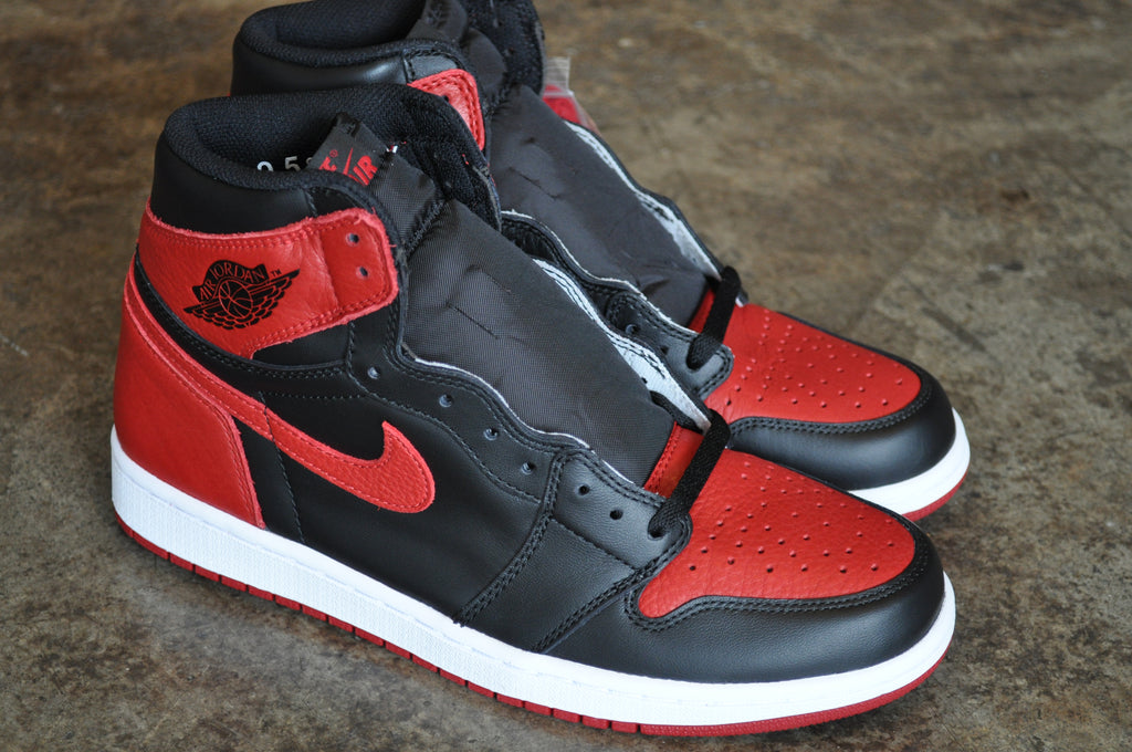 "Nike Air Jordan 1 Retro ""Bred Banned"" 2016 - Black/Varsity Red-White"