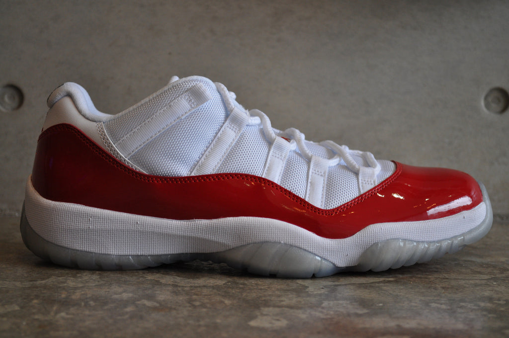 Nike Air Jordan 11 Retro Low - White/Varsity Red-Black