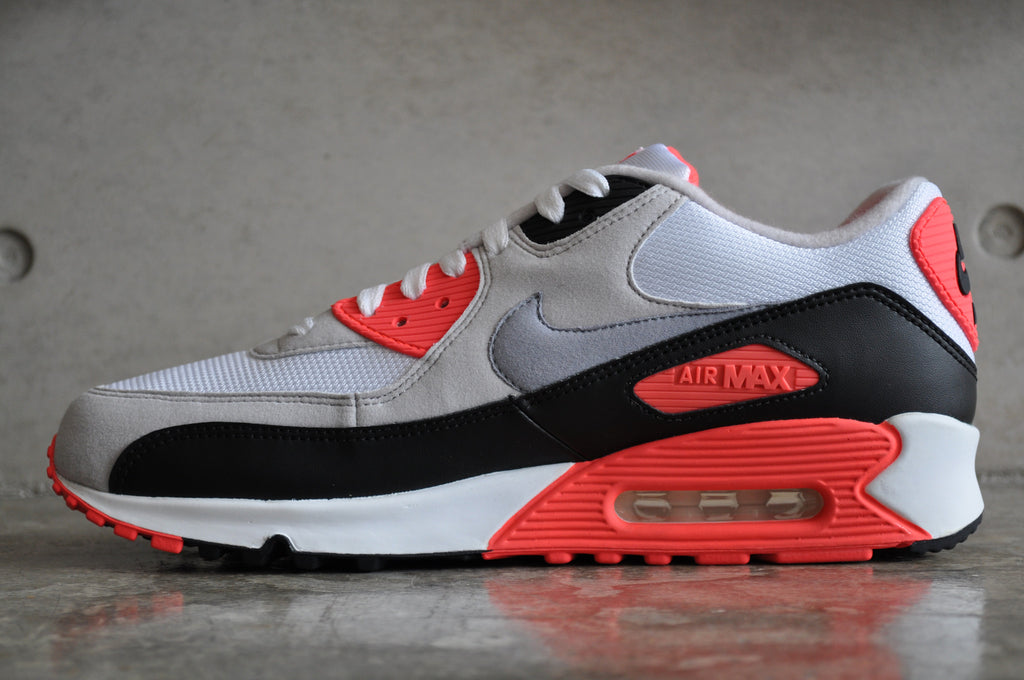 Nike Air Max 90 'Infrared' OG 2010 - White/Cement Grey-Infrared-Blk