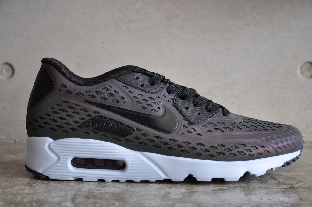Nike Air Max 90 Ultra Moire Holographic - Deep Pewter/Black-Porpoise