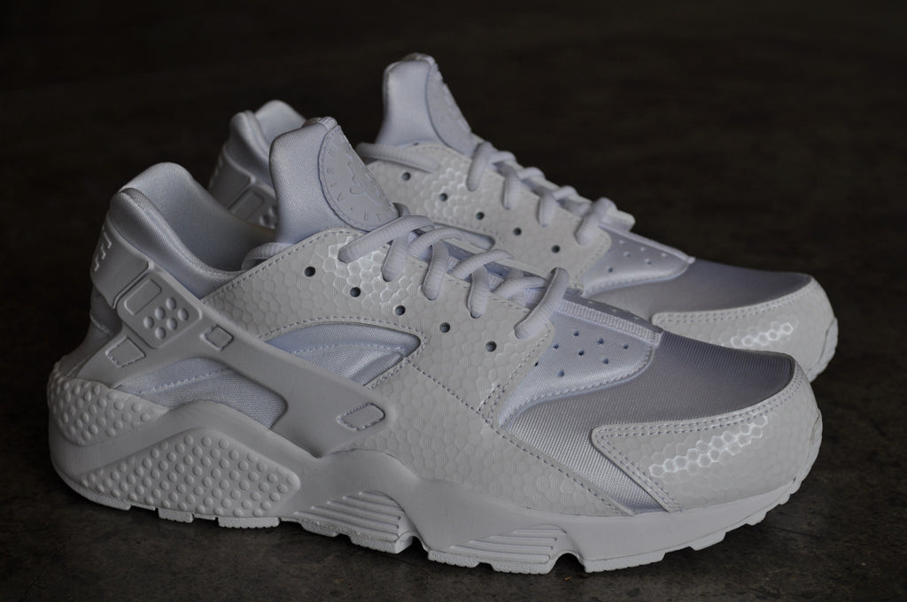 Nike Womens Air Huarache Run PRM White - White / White