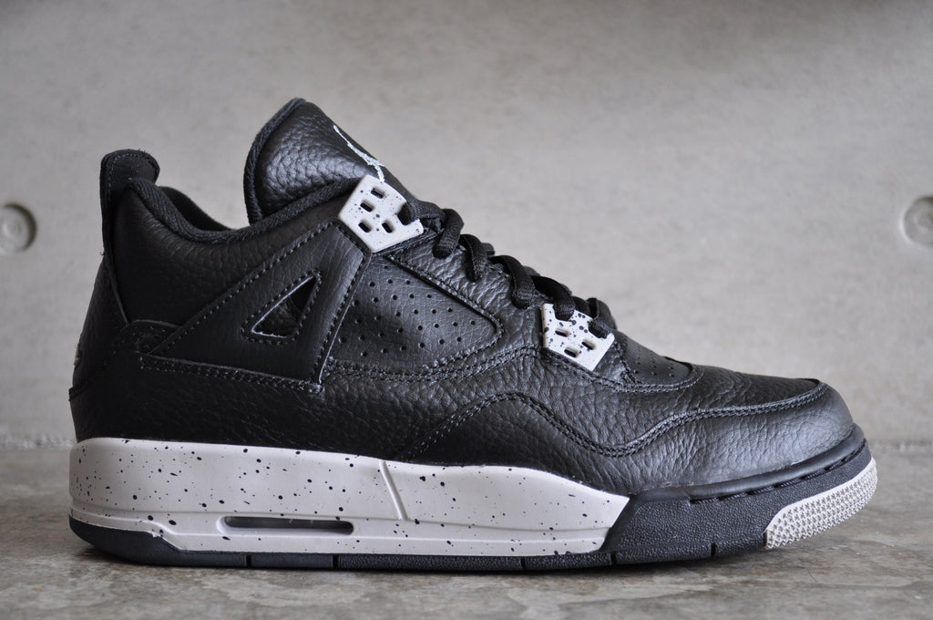 Nike Air Jordan 4 Retro 'Oreo' BG (GS) - Black/Tech Grey-Black