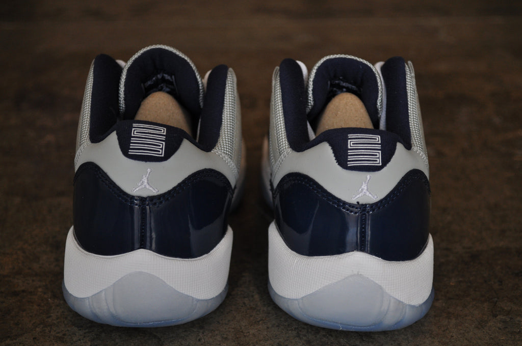 Nike Air Jordan 11 Retro Low 'Georgetown' BG (GS) - Grey Mist / Wht Mdnght Nvy