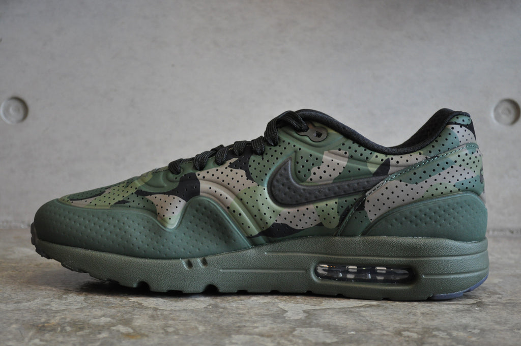 Nike Air Max 1 Ultra Moire Camo Print - Carbon Green/Black