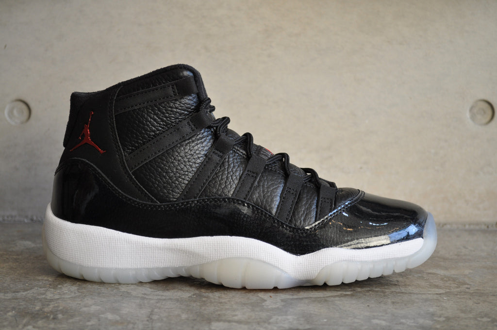 Nike Air Jordan 11 Retro BG (GS) '72-10' - Black/Gym Red-White-Anthracite