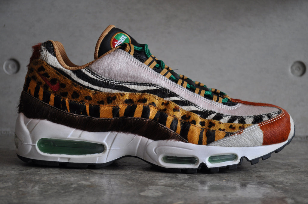 Nike Air Max 95 Supreme Safari Pack x Atmos - Pony/Sprt Red-Cls Grn-Wheat