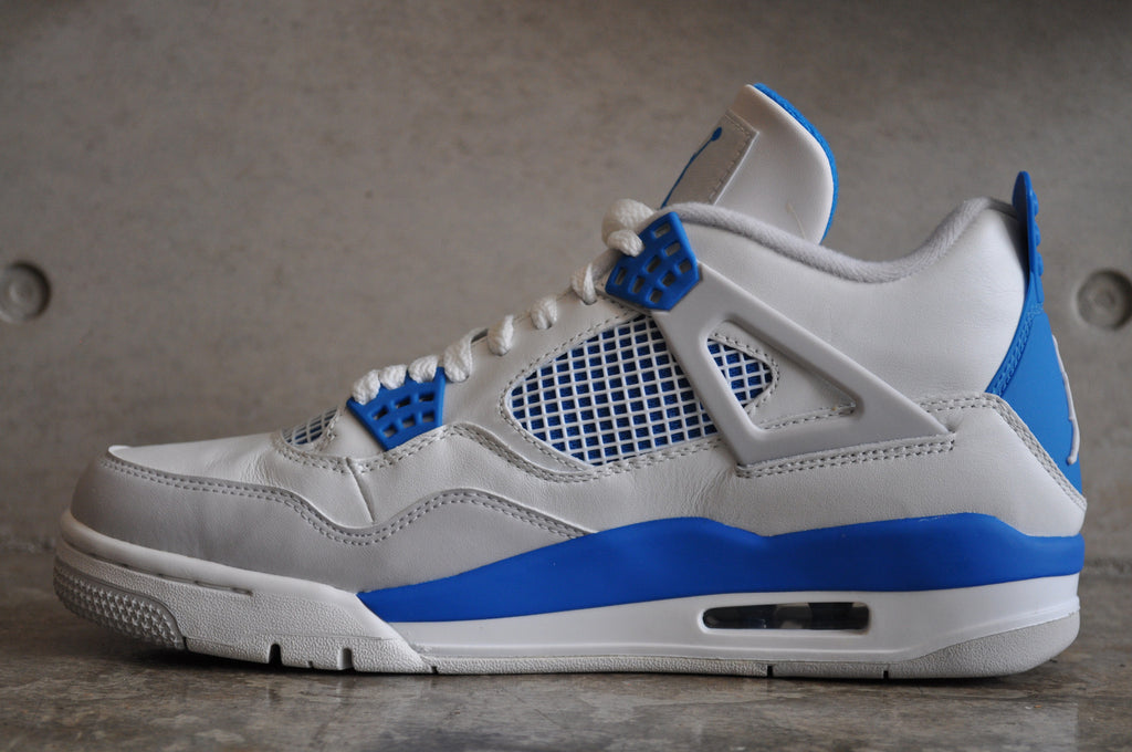Nike Air Jordan 4 Retro 'Military Blue' 2012 - White/Military Blue-Ntrl Grey