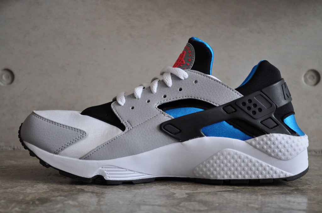Nike Air Huarache Wolf Grey - White/Blue Hero-Wolf Grey
