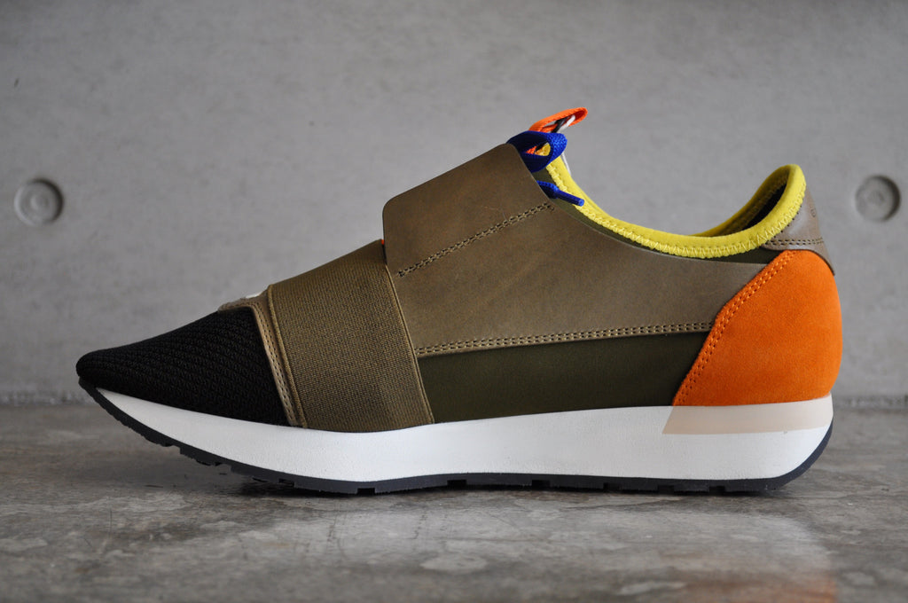 "Balenciaga Race Runners ""Multi"" - Khaki/Green"