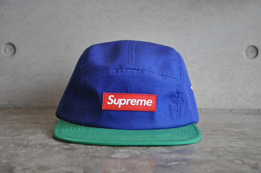 Supreme Tri-Color Rubber Blue Red Green Box Logo Camp Cap