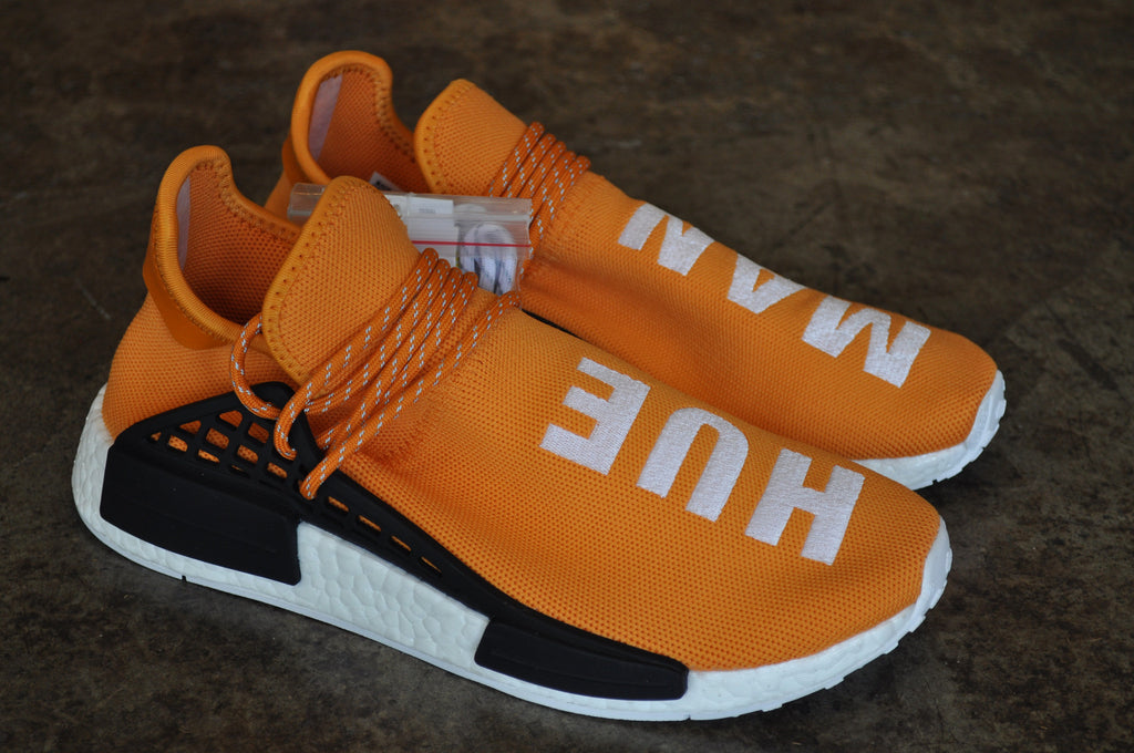 "Adidas NMD Pharrell Williams Human Race ""Hue Man"" Orange Tangerine - Black/White"