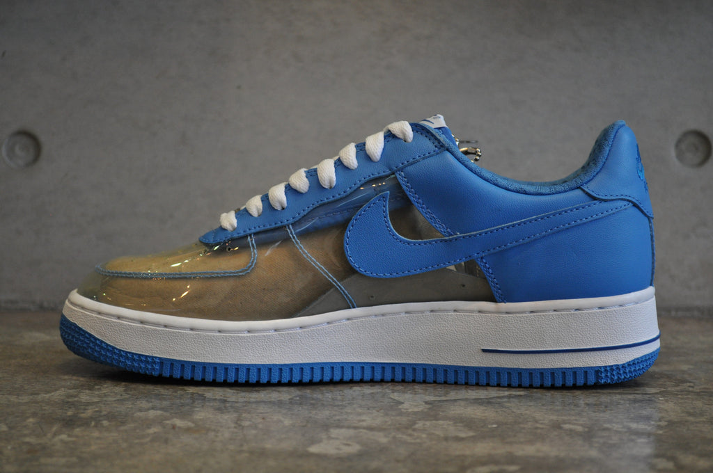 "Nike Air Force 1 ""Fantastic Four Invisible Woman"" PRM - Clear/Blue"